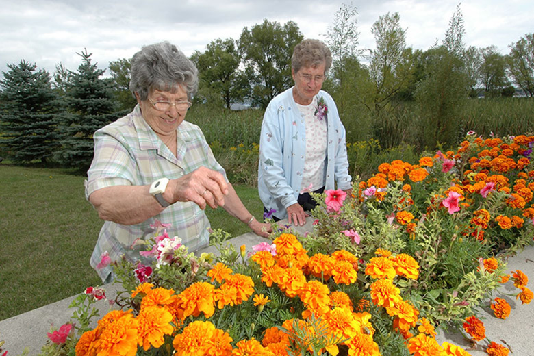 Residents Gardening
