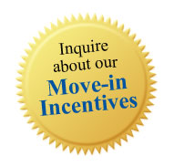 Inquire about our move-in incentives