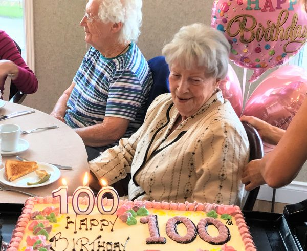 One of our residents celebrating their 100th birthday