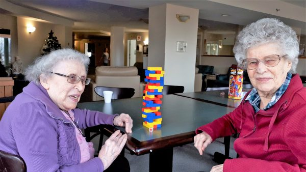 Residents playing games